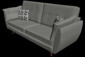 3D sofa pillow model