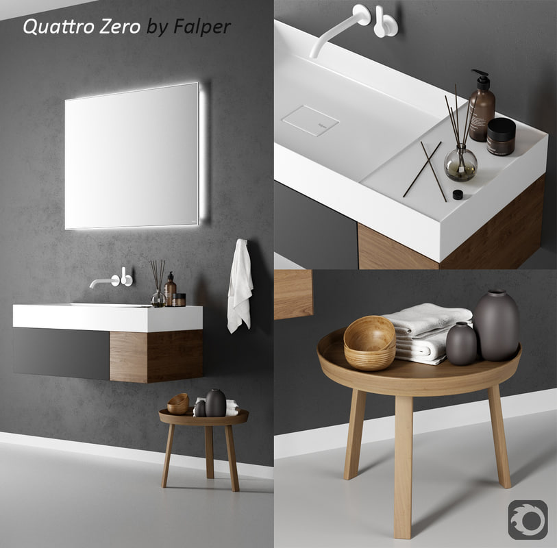 3D quattro zero washbasin