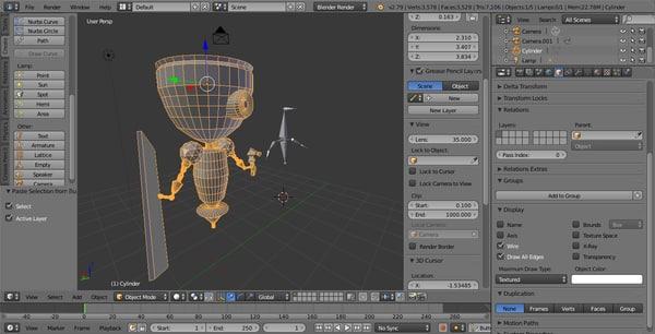3D worker bot model