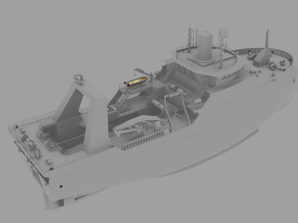 3D ship fish