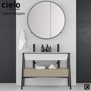 washbasin ceramica cielo catino 3D
