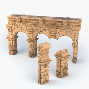 3D ancient roman wall