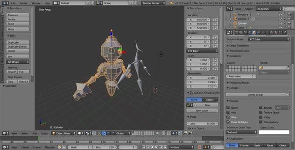 machine robot 3D model