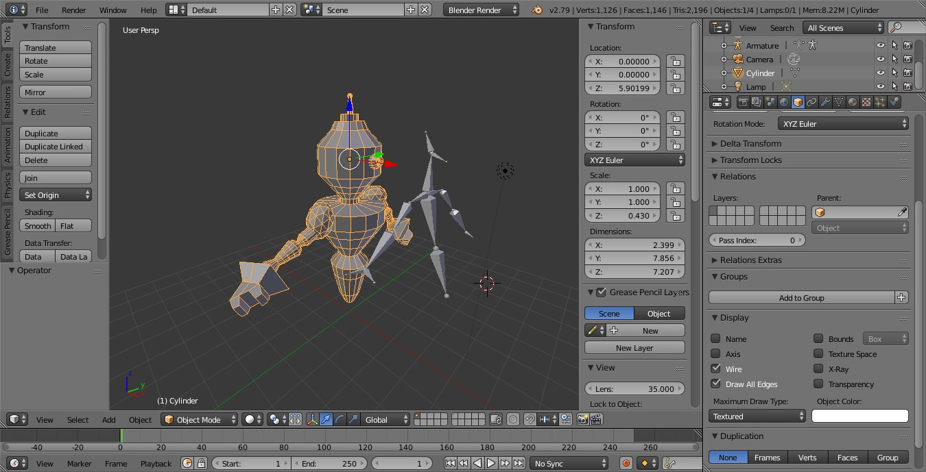 machine robot 3D model