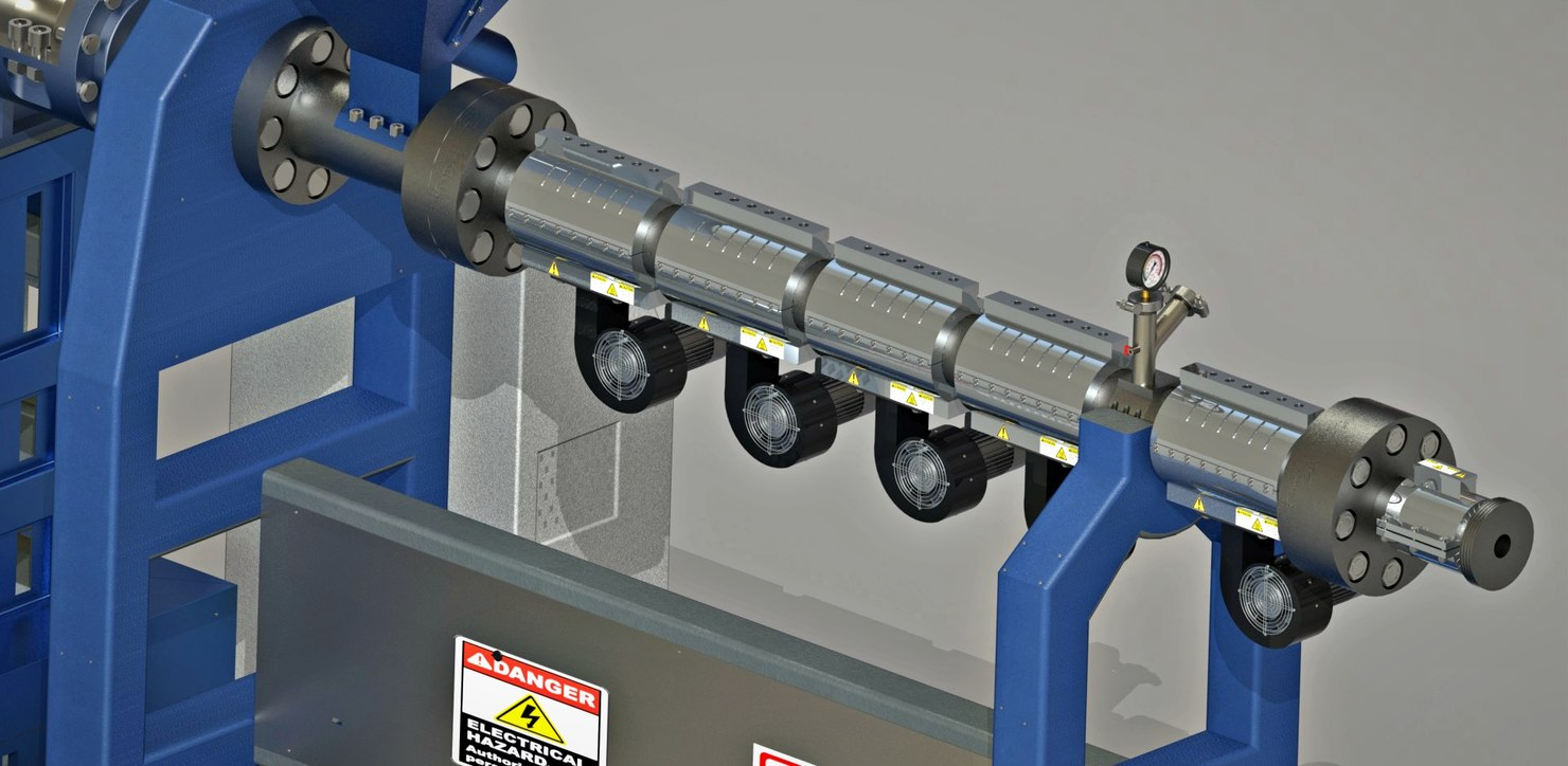 3D machine pipes model