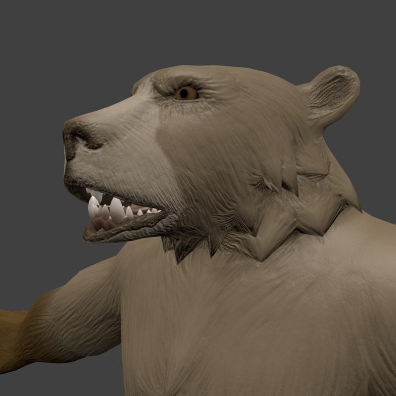 Nsfw Adult Bear Character Model Turbosquid 1260985