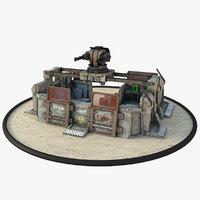 futuristic bunker 3D