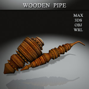 3D wooden pipe
