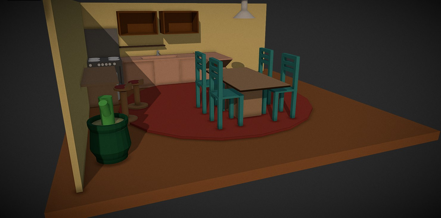 house package 3D model