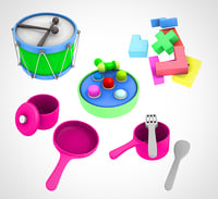 3D kids toy set 002
