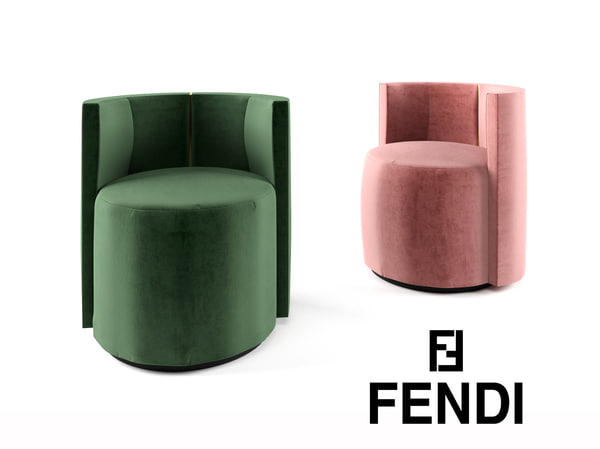 3D model arm chair fendi