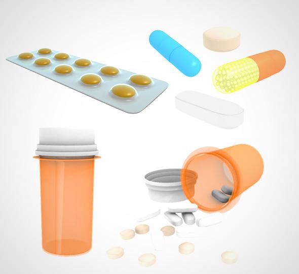 medical pill 001 model