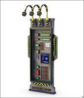 3D sci-fi panel