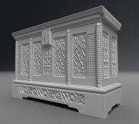 medieval furniture 3D model