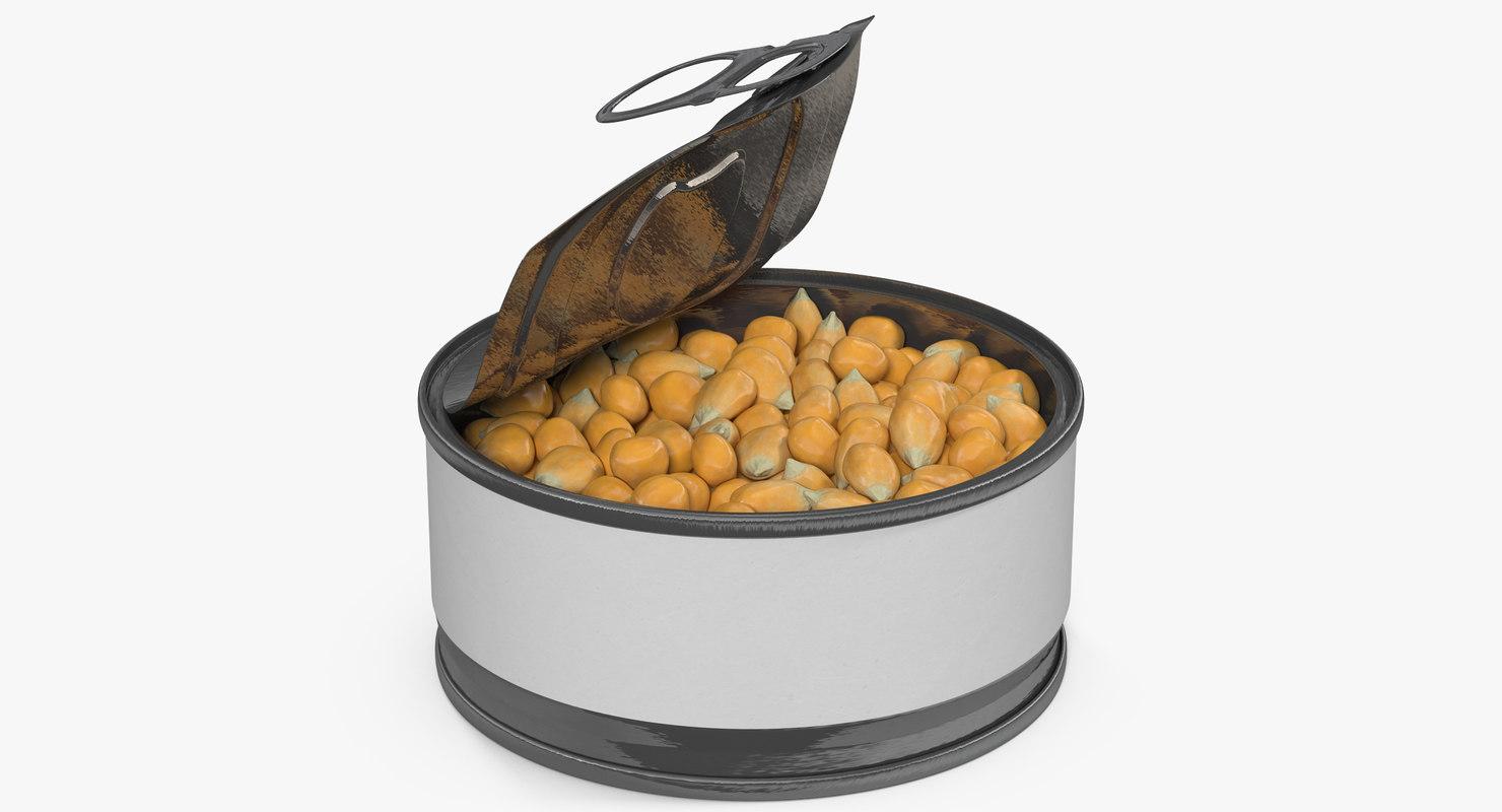 3D model corn kernels 3