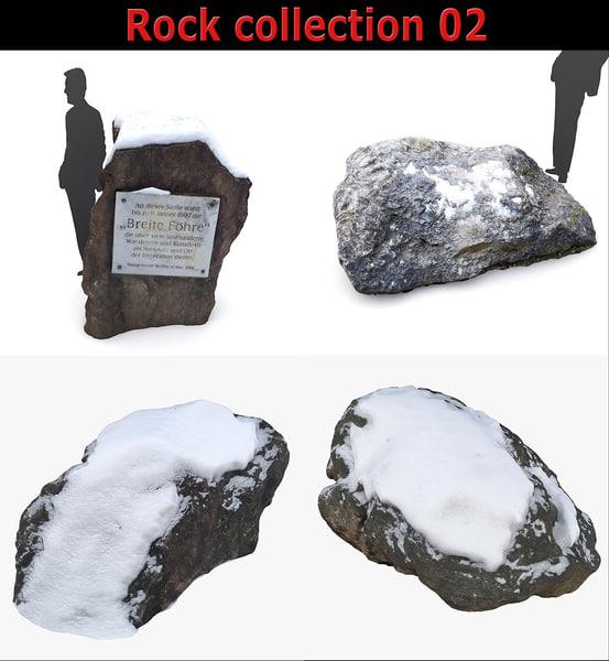 winter rock 3D model