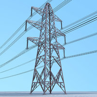 electrical transmission tower 3D model