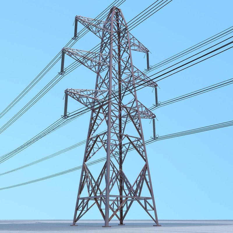 electrical transmission tower 3D model