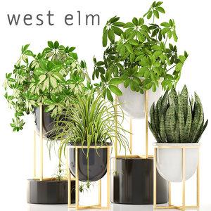 3D pots west elm