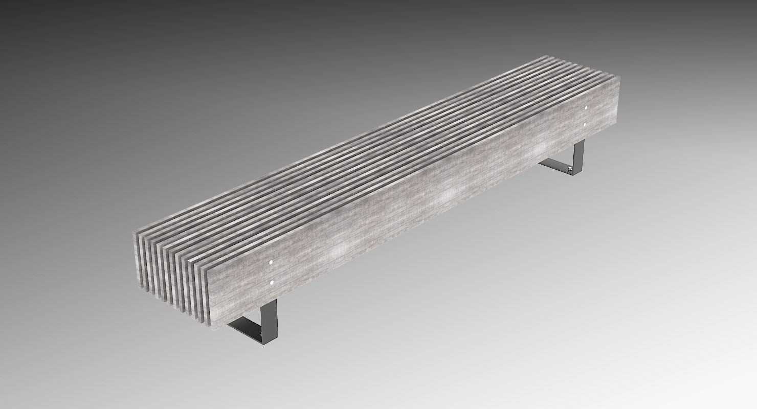 bench elements seating 3D model