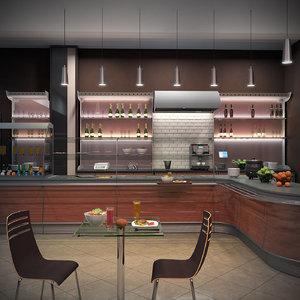 cafe table restaurant 3D model