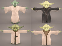 3D boss star wars yoda model