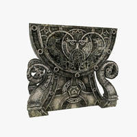 3D celtic altar