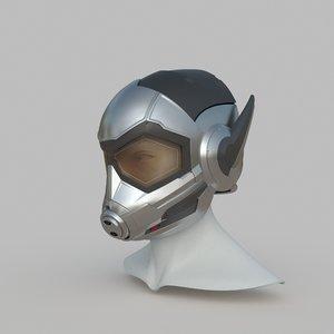 wasp helmet print 3D model