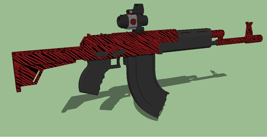 rifle hybrid sight 3D model