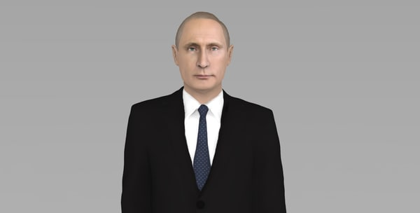 3D model vladimir putin ready color