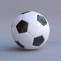 soccer ball black white
