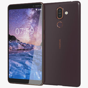 3D realistic nokia 7 black model