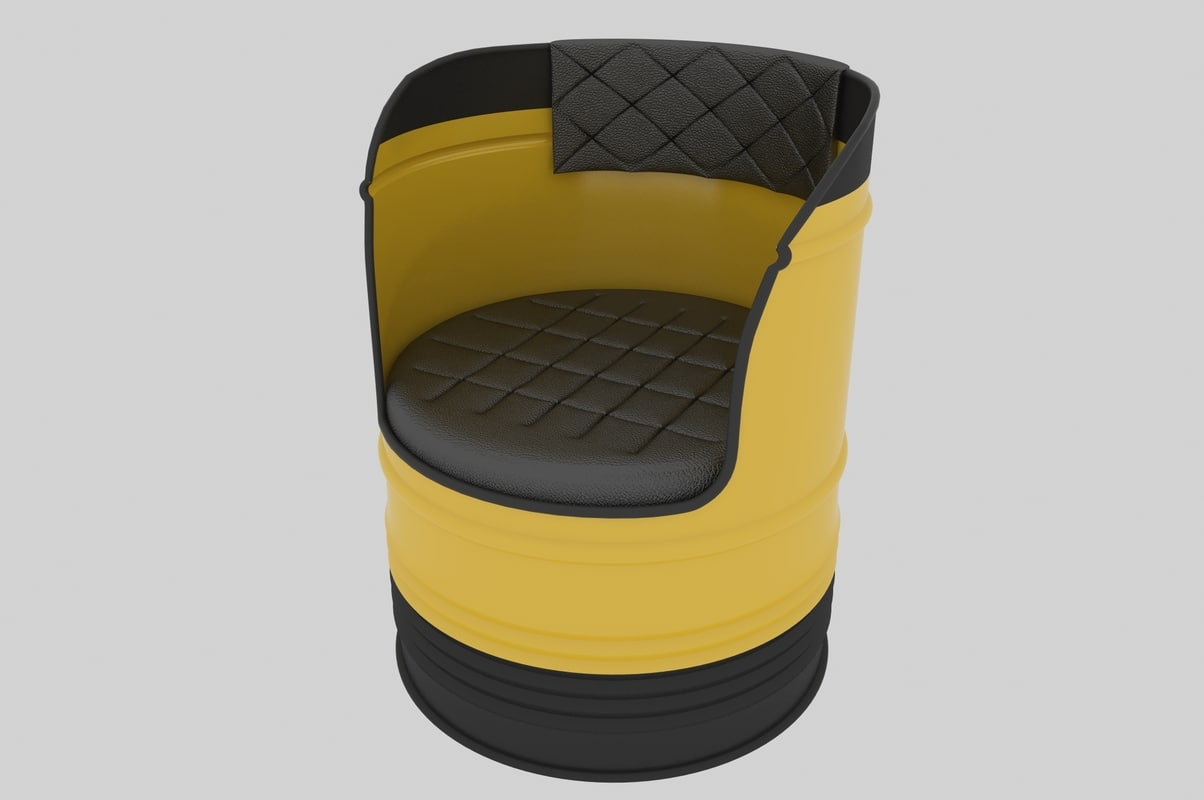 3D model barrel sofa bar