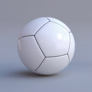 soccer ball white large model