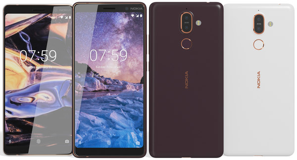 realistic nokia 7 black 3D model