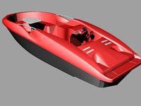 speedboat motorboat 3D model