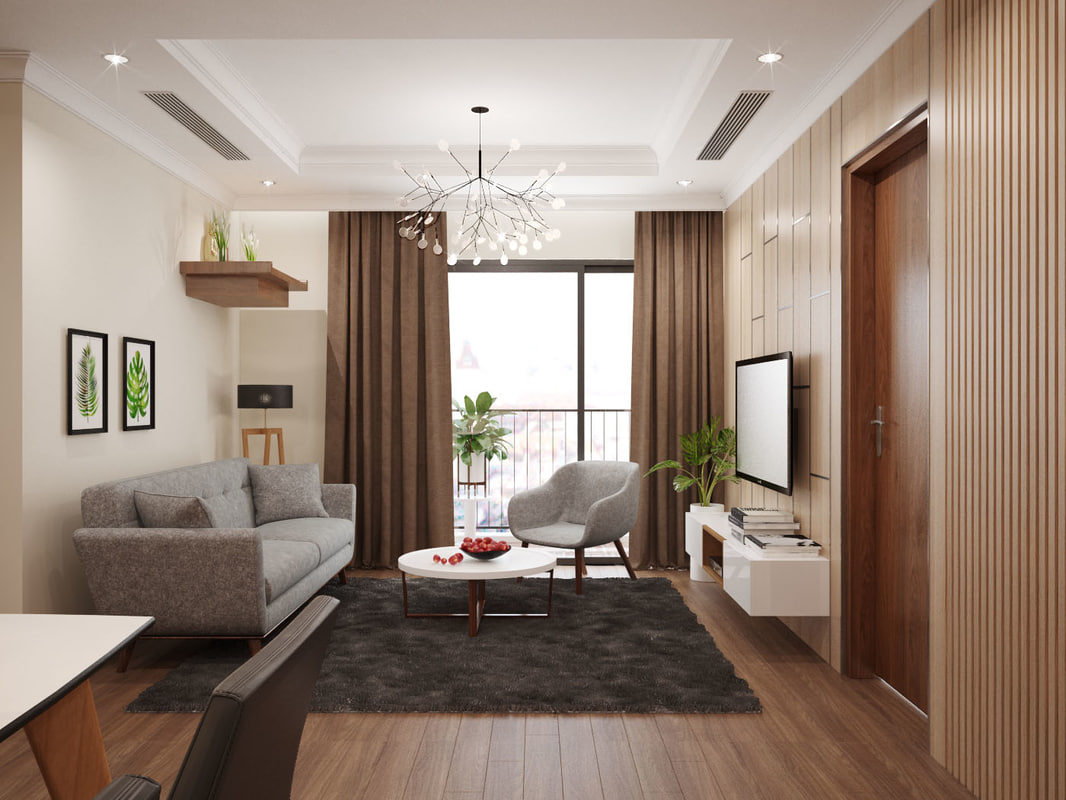 3D apartment living model