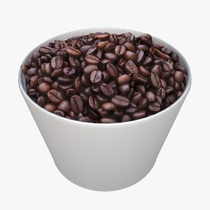 coffee beans 3D model