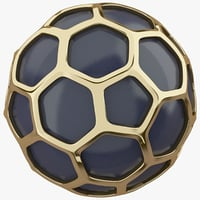 Hexagon Gold Ball