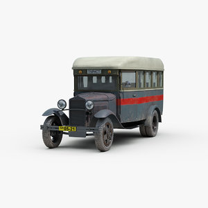 3D model vintage gaz