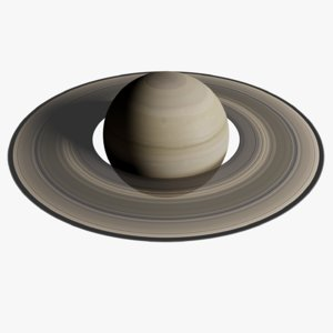 3D photorealistic saturn planet
