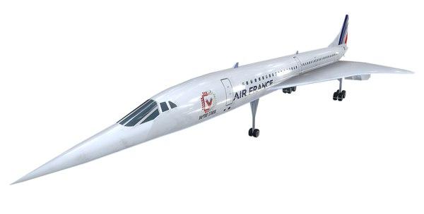 3D aerospatiale concorde model