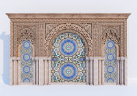 ornamental islamic arches 3D model