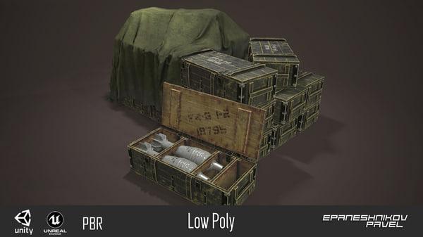 3D model armor box