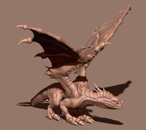 dragon print model