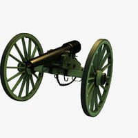 10-pounder parrott rifle civil war 3D