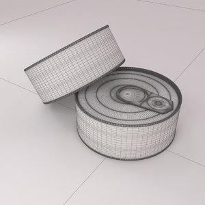 3D model fish tin