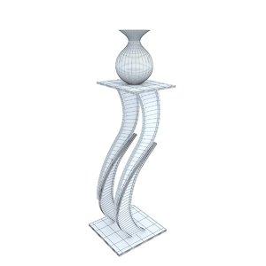 3D steel pedestal model