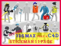 Stickman 11 pack -Rigged