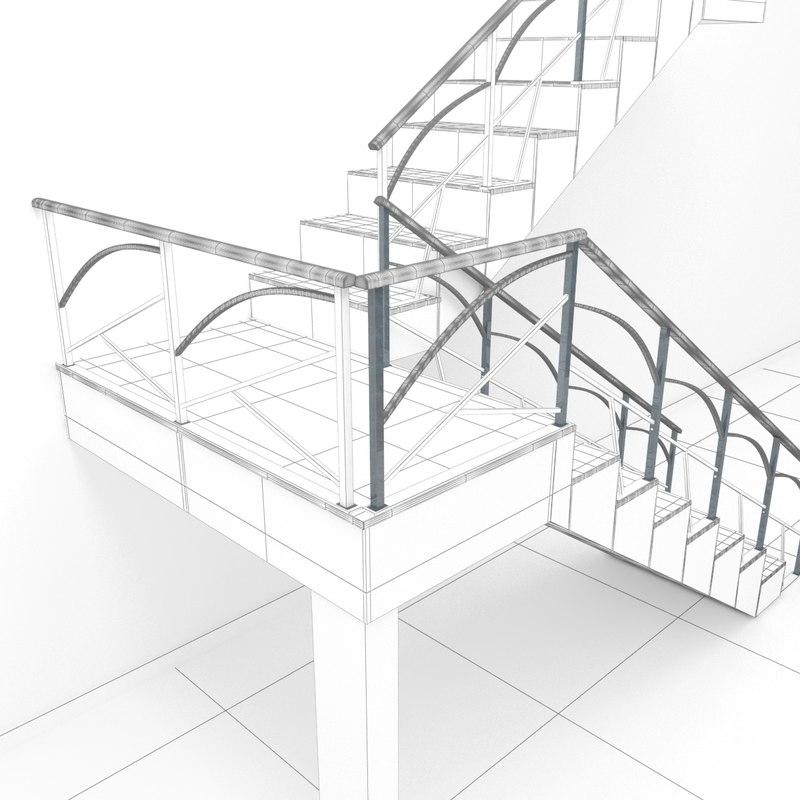 3D model rail houses second